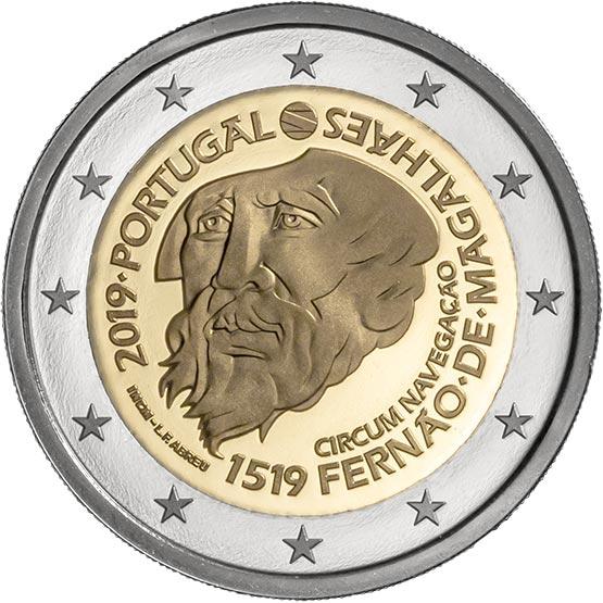 PORTUGAL Ferdinand Magellan 500 2 Euro commemorative coin 2019