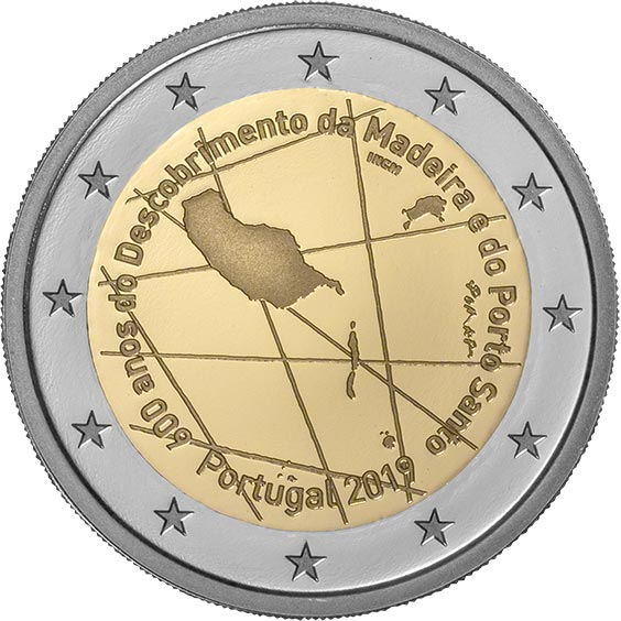 Image of 2 euro coin – 600 years since the discovery of Madeira | Portugal 2019