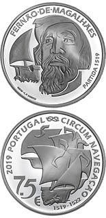 7.5 euro coin 500th Anniversary Of Magellan Circun-Navigation - The Departure 1519 | Portugal 2019