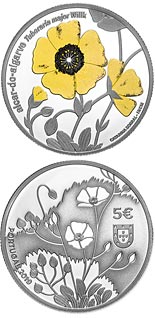 5 euro coin Endangered Flora Species — Tuberaria Major | Portugal 2019