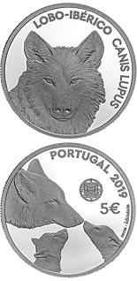 5 euro coin Endangered Fauna Species — The Iberian Wolf | Portugal 2019