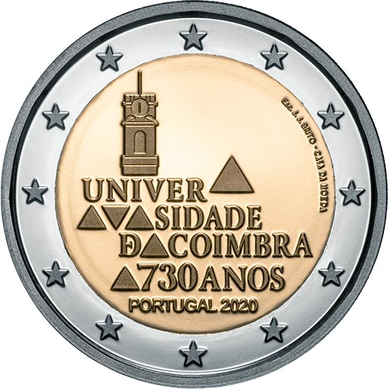 Image of 2 euro coin - 730 Years of the University of Coimbra | Portugal 2020