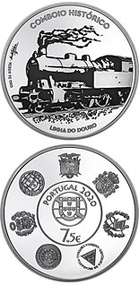 7.5 euro coin Ibero-American series - Historic Trains | Portugal 2020
