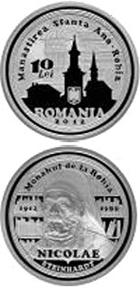 Image of 10 leu coin - 100 years since Nicolae Steinhardt's birth | Romania 2012