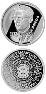 10 leu coin 90th anniversary of Marin Preda's birth | Romania 2012