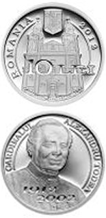 10 leu coin The centennial anniversary of Cardinal Alexandru Todea's birth | Romania 2012