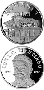 10 leu coin 150 years since the birth of Ion I. C. Brătianu | Romania 2014