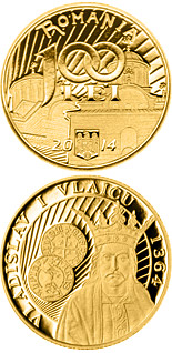 100 leu coin 650th anniversary of the beginning of the reign of Vladislav I Vlaicu | Romania 2014