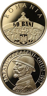 50 bani coin 100 years since the Romanian Army's victories at Mărăşti, Mărăşeşti and Oituz | Romania 2017