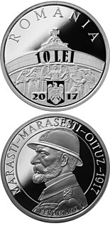 10 leu coin 100 years since the Romanian Army's victories at Mărăşti, Mărăşeşti and Oituz | Romania 2017