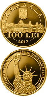 100 leu coin 20 years since the launch of the strategic partnership between Romania and the USA | Romania 2017