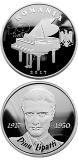 10 leu coin 100 years since the birth of Dinu Lipatti | Romania 2017