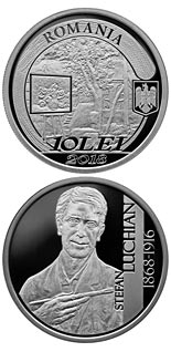 10 leu coin 150 years since Ștefan Luchian's birth | Romania 2018