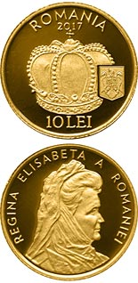 10 leu coin The Crown of Queen Elisabeta of Romania | Romania 2017