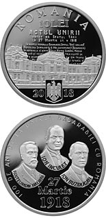 10 leu coin 100 years since the union of Bessarabia with Romania | Romania 2018