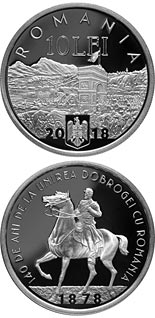 10 leu coin 140 years since the union of Dobruja with Romania | Romania 2018