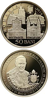 50 bani coin The Apostolic journey of His Holiness Pope Francis to Romania | Romania 2019