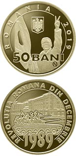 50 bani coin 30 years since the Romanian Revolution of December 1989 | Romania 2019