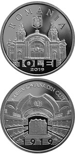 10 leu coin 100 years since the establishment of the Romanian Opera in Cluj | Romania 2020