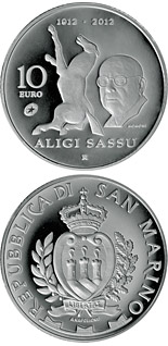 10 euro 100th Anniversary of the birth of Aligi Sassu - 2012 - Series: Silver 10 euro coins - San Marino