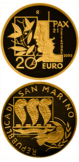 20 euro coin International Day of Peace | San Marino 2005
