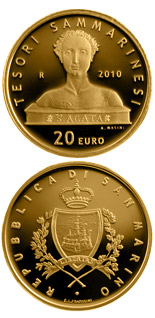 20 euro Treasures of San Marino  - 2010 - Series: Gold euro coins - San Marino