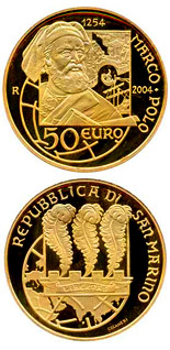 50 euro coin 750th Anniversary of the Birth of Marco Polo | San Marino 2004
