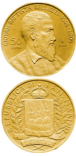 50 euro coin 500th Anniversary of Giovan Battista Belluzzi | San Marino 2006