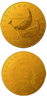 50 euro Finds of the Villanovian and Roman Civilizations  - 2008 - Series: Gold euro coins - San Marino