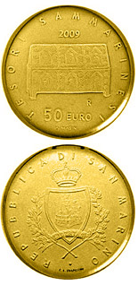 50 euro coin Treasures of San Marino  | San Marino 2009