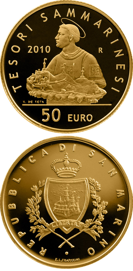 Image of a coin 50 euro | San Marino | Treasures of San Marino  | 2010