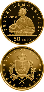 50 euro coin Treasures of San Marino  | San Marino 2010