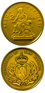 2 scudi Treasures of San Marino  - 2009 - Series: Gold 2 scudi coins - San Marino