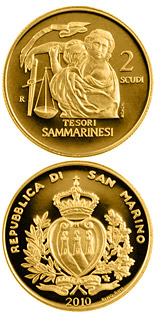 2 scudi Treasures of San Marino  - 2010 - Series: Gold 2 scudi coins - San Marino