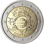 2 euro Ten years of euro - 2012 - Series: Commemorative 2 euro coins - San Marino