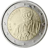 2 euro coin 200th Birthday of Giuseppe Garibaldi | San Marino 2007