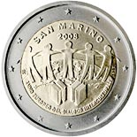 2 euro coin European Year of Intercultural Dialogue | San Marino 2008