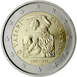2 euro coin 500th Anniversary of the birth of Giorgio Vasari | San Marino 2011