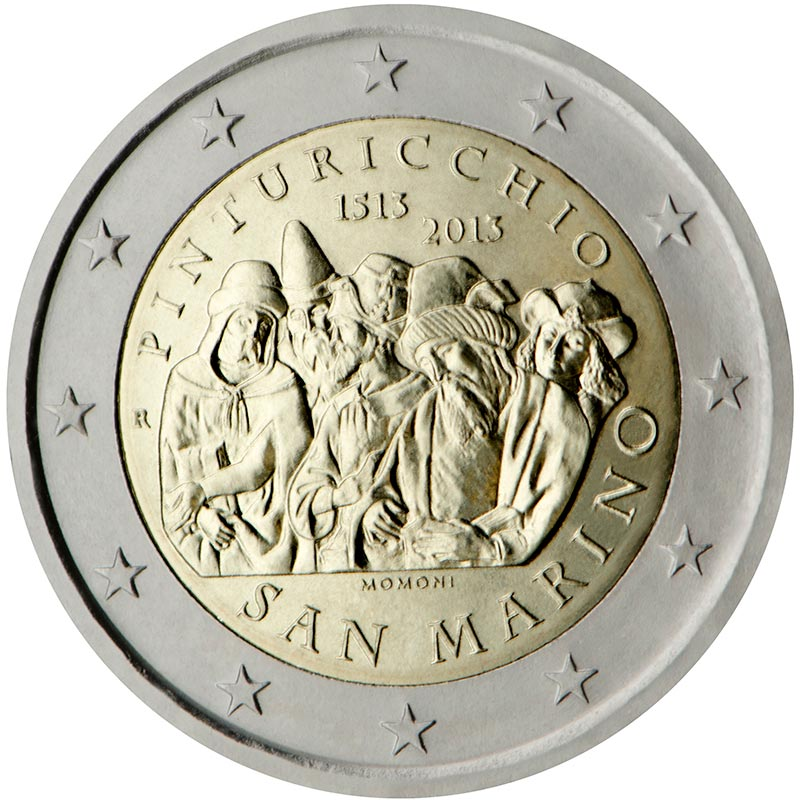 2 euro | San Marino | The 500th Anniversary of the Death of Malers Pinturicchio | 2013
