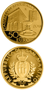 50 euro coin Architectural Elements: Castle of Serravalle | San Marino 2013