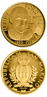 2 scudi coin 150th Anniversary of the Birth of Henry Ford | San Marino 2013