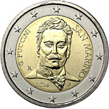 2 euro 90th Anniversary of the Death of Giacomo Puccini - 2014 - Series: Commemorative 2 euro coins - San Marino