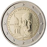 2 euro coin 500th Anniversary of the death of Bramante Lazzari delle Penne di San Marino | San Marino 2014