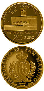 20 euro coin Architectural elements of San Marino: Castles of Acquaviva and Domagnano | San Marino 2014