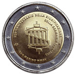 2 euro coin 25th anniversary of German reunification | San Marino 2015