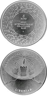 5 euro International Year of Light - 2015 - Series: Silver 5 euro coins - San Marino