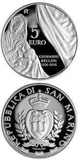 5 euro coin 500th Anniversary of the Death of Giovanni Bellini | San Marino 2016