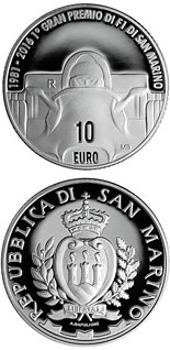10 euro 35th Anniversary of the F1 World Championship at the Imola circuit - 2016 - Series: Silver 10 euro coins - San Marino