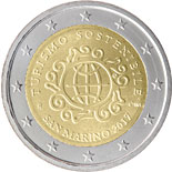 2 euro coin International Year of Sustainable Tourism for Development | San Marino 2017