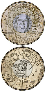 5 euro coin 30th Anniversary of the Birth of Marco Simoncelli | San Marino 2017